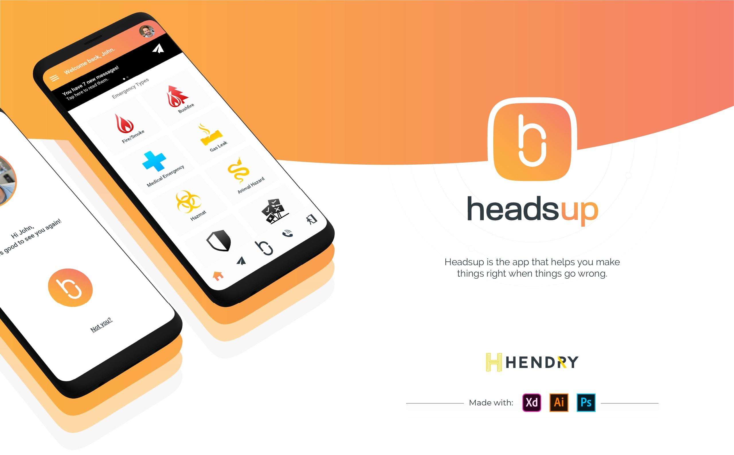 Headsup description